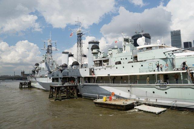 Крейсер HMS Belfast, Лондон