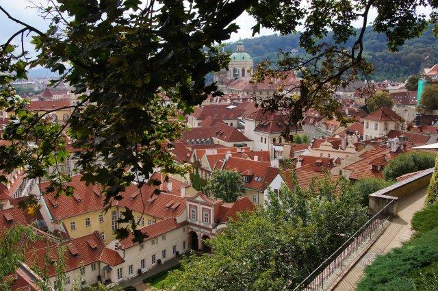 Пражский Град, вид с обзорной площадки на Прагу